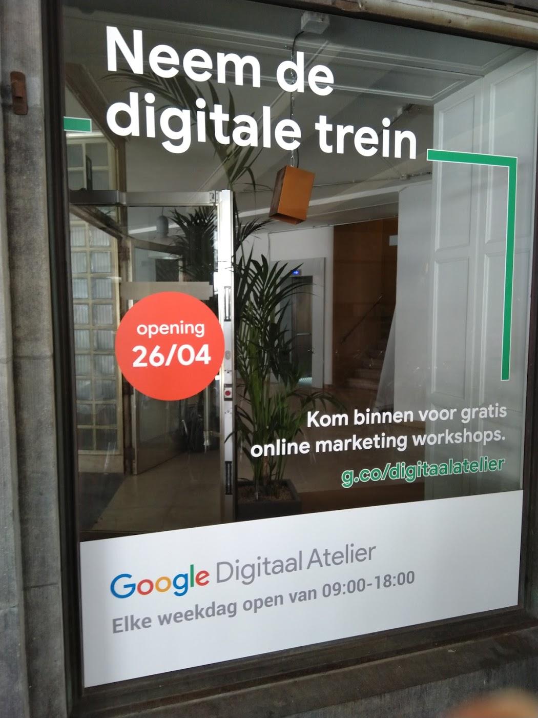 Google Digitaal Atelier Becentral buiten